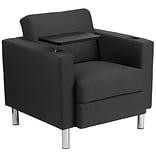 Fabric Guest Chair in Charcoal Gray w/Tt Ar