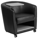 Leather Guest Chair w/Tt Arm Front Wheel Ca