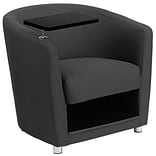 Fabric Guest Chair Charcoal Gray w/Tt Arm C