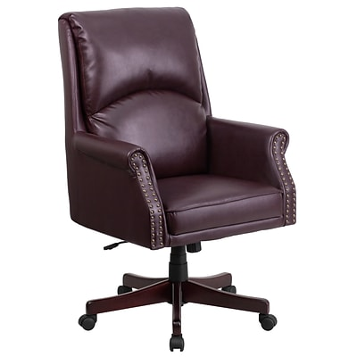 Flash Furniture High-Back Pillow-Back  Leather Executive Swivel Office Chair, Burgundy (BT9025H2BY)