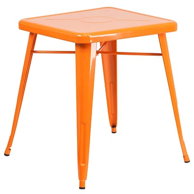 Flash Furniture 24 Square Metal Indoor/Outdoor Table; Orange (CH3133029OR)