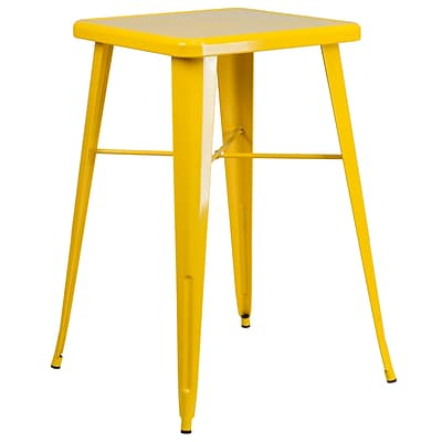 Flash Furniture 24 Square Metal Indoor/Outdoor Bar-Height Table; Yellow (CH31330YL)