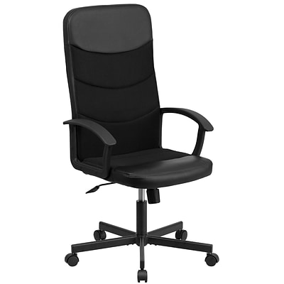 Flash Furniture High-Back Blk Vinyl and Blk Mesh Racing Executive Swivel Office Chair (CPA301A01BK)