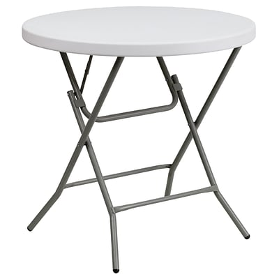 Flash Furniture 32 Round Plastic Folding Table; Granite White (DADYCZ80RGW)