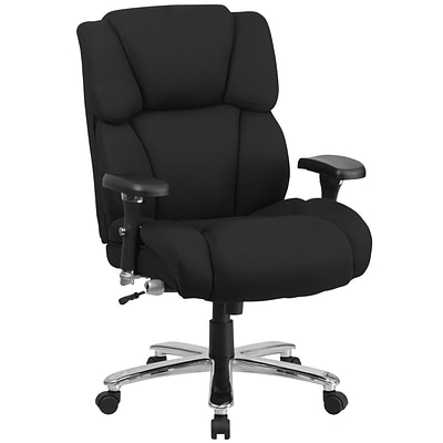 Flash GO2149 Hercules 24/7 Use Multi-Shift Big & Tall Black Fabric Exec Swivel Chair, Lumbar Support