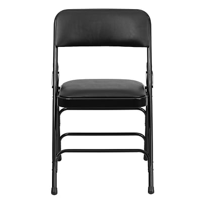 Flash Furniture Hercules Series Curved Triple-Braced, Double-Hinged Upholstered Metal Folding Chair