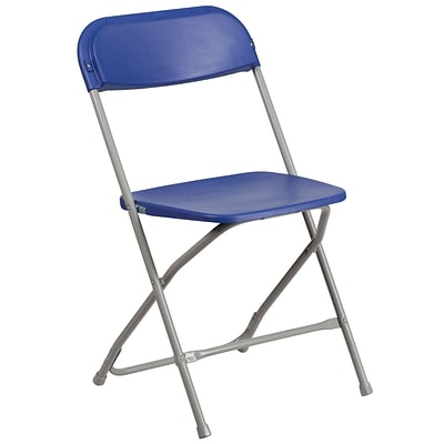 Flash Furniture HERCULES Series 800lb-Capacity Premium Plastic Folding Chair, Blue (LEL3BLUE)