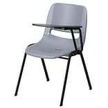 Shell Chair Gray w/Left-Handed Flip-Up Tt A