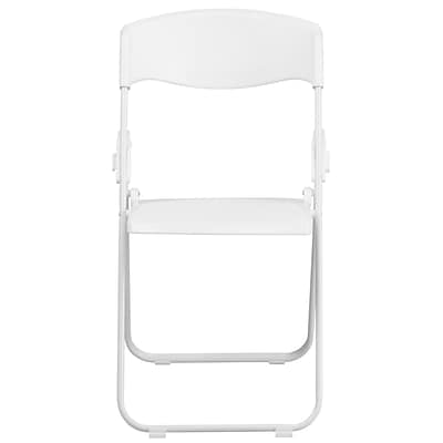 Flash Furniture  Hercules Series 880lb Capacity Heavy-Duty Plastic Folding Chair, White (RUTIWHT)