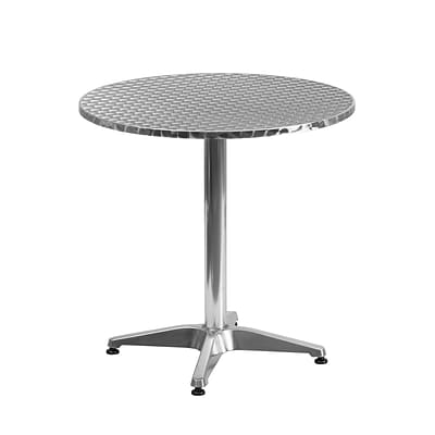 Flash Furniture 27.5 Round Aluminum Indoor/Outdoor Table with Base (TLH0522)