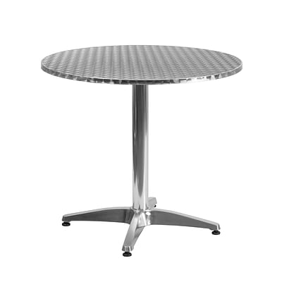Flash Furniture 31.5 Round Aluminum Indoor/Outdoor Table with Base (TLH0523)