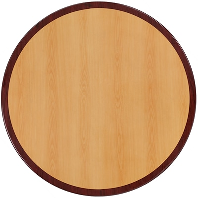 Flash Furniture 30 Round Resin Table Top; Two-Tone Cherry and Mahogany (TP2TONE30RD)