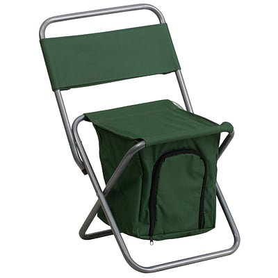 Flash Furniture Kids Folding Camping Chair with Insulated Storage, Green (TY1262GN)