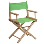Standard-Height Directors Chair; Green