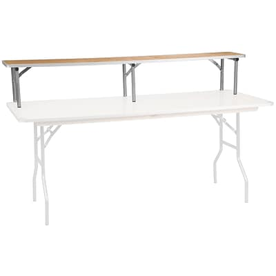 Flash Furniture 72 x 12 x 12 Bar Top Riser; Birchwood with Silver Legs (XA72RS)