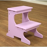 Mega Home 2-Step Wood Step Stool w/ 200 lb. Load Capacity; Purple