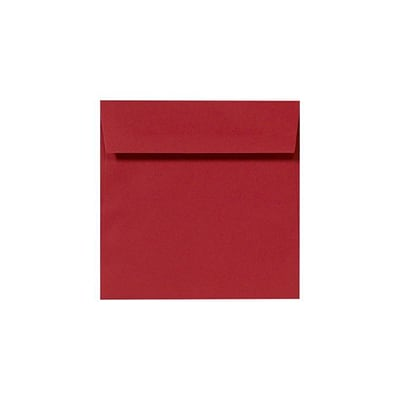 LUX® 8 x 8 Square Envelopes, Ruby Red, 50/PK (LUX-8565-18-50)