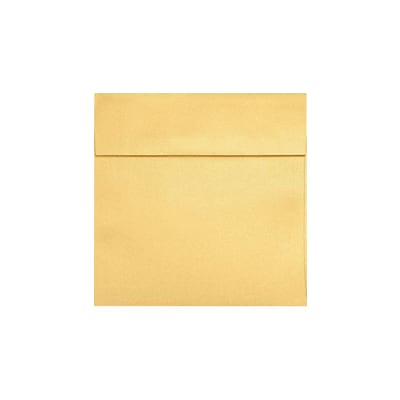 LUX® 7 x 7 Square Envelopes with Peel and Press, Gold Metallic, 250/PK (8545-07-250)