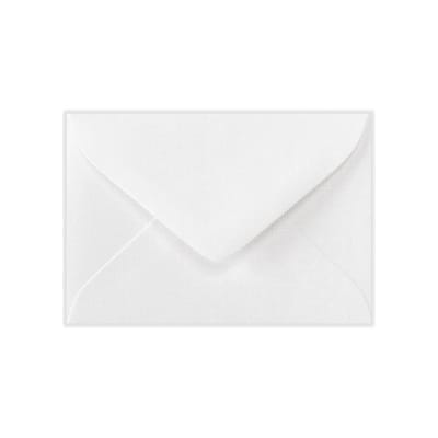 LUX #17 Mini Envelopes (2 11/16 x 3 11/16) 1000/Box, White Linen (LEVC-WLI-1M)