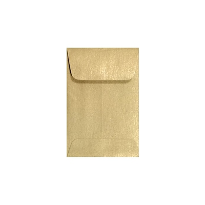 LUX #1 Coin Envelopes (2 1/4 x 3 1/2) 1000/Box, Blonde Metallic (1COBLON-1M)
