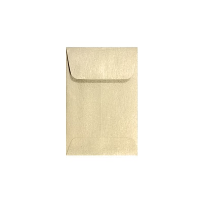 LUX #1 Coin Envelopes (2 1/4 x 3 1/2) 250/Box, Champagne Metallic (1COCHAMP-250)