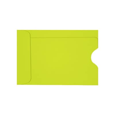 LUX Credit Card Sleeve (2 3/8 x 3 1/2) 50/Box, Wasabi (LUX-1801-L22-50)