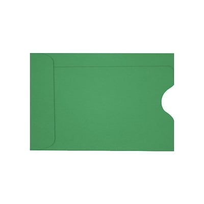 LUX Credit Card Sleeve (2 3/8 x 3 1/2) 1000/Box, Holiday Green (LUX-1801-L17-1M)