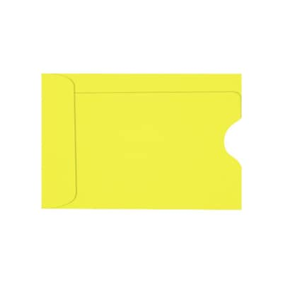 LUX® Credit Card Sleeve; 2 3/8 x 3 1/2, Citrus Yellow, 250/PK (1801-L20-250)