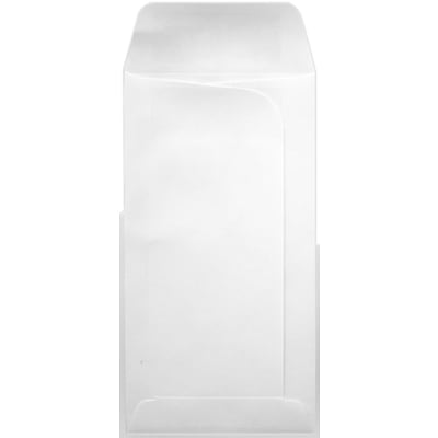 LUX® Large Drive-In Banking Envelopes, 3 3/4 x 7, 24lb, White, 1000/PK (LDI-24WW-1M)