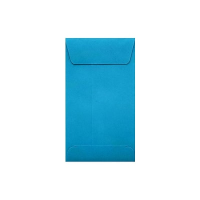 LUX® #5 1/2 Coin Envelopes; 3 1/8 x 5 1/2 with Peel and Seel, Pool Blue, 50/PK (512CO-102-50)