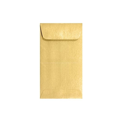 LUX #5 1/2 Coin Envelopes (3 1/8 x 5 1/2) 500/Box, Gold Metallic (512CO-07-500)