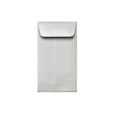 LUX #5 1/2 Coin Envelopes (3 1/8 x 5 1/2) 1000/Box, Silver Metallic (512CO-06-1M)