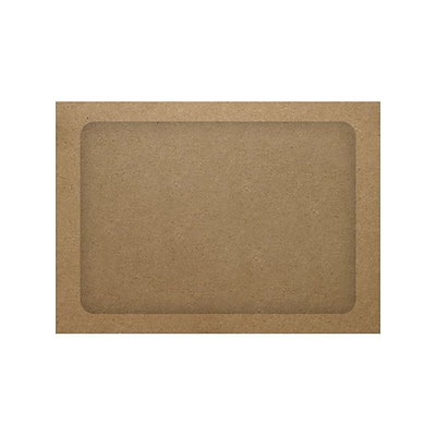 LUX® A7 Full Face Window Envelopes, Grocery Bag Brown, 500/PK (A7FFW-GB-500)