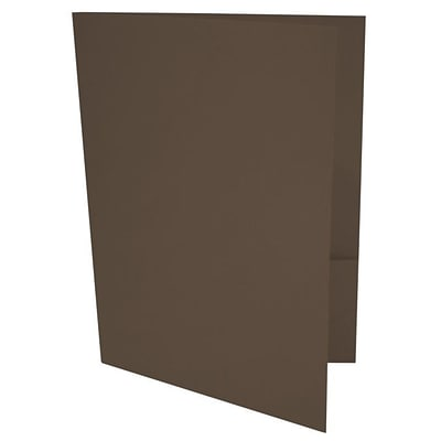 LUX® 9 x 12 Presentation, Pocket Folders, Chocolate Brown, 250/PK (LUX-PF-17-250)