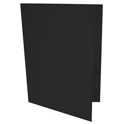 LUX® 9 x 12 Presentation, Pocket Folders, Midnight Black, 1000/PK (LUX-PF-56-1M)
