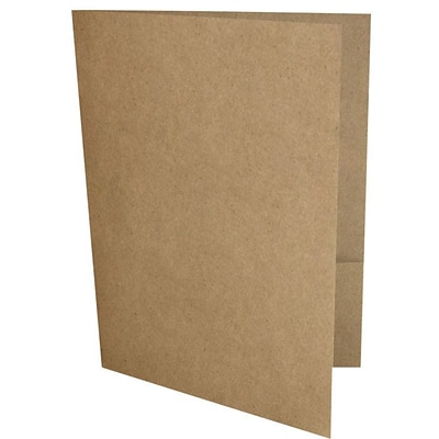 LUX® 9 x 12 Presentation, Pocket Folders, 18pt Grocery Bag Brown, 250ct (PF-GB-250)