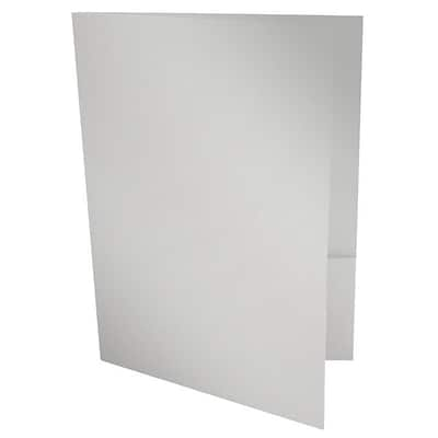 LUX® 9 x 12 Presentation Folders, Silver Metallic, 1,000ct (PF-M06-1M)