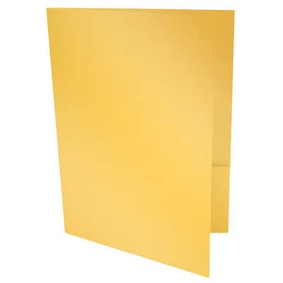 LUX® 9 x 12 Presentation, Pocket Folders, Gold Metallic, 250/PK (PF-M07-250)