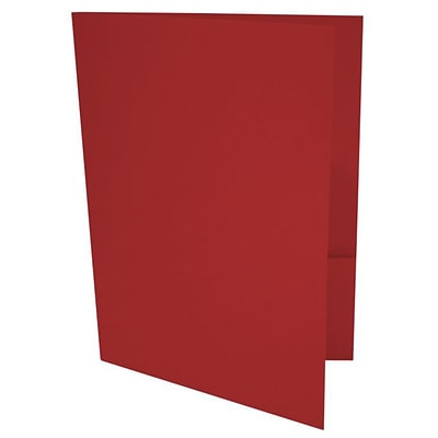 LUX® 9 x 12 Presentation, Pocket Folders, Ruby Red, 500ct (LUX-PF-18-500)