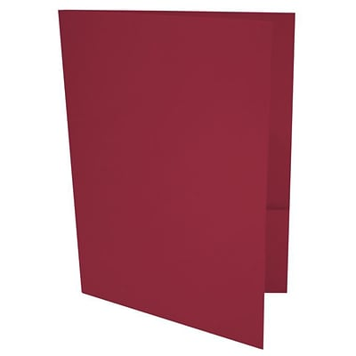 LUX® 9 x 12 Presentation, Pocket Folders, Garnet Red, 500/PK (LUX-PF-26-500)