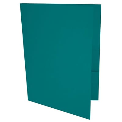 LUX® 9 x 12 Presentation, Pocket Folders, Teal, 50ct (LUX-PF-25-50)