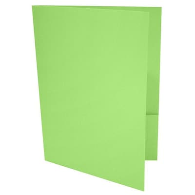 LUX® 9 x 12 Presentation, Pocket Folders, Limelight Green, 250ct (LUX-PF-101-250)