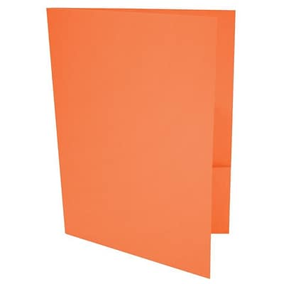 LUX® 9 x 12 Presentation, Pocket Folders, Mandarin Orange, 500ct (LUX-PF-11-500)