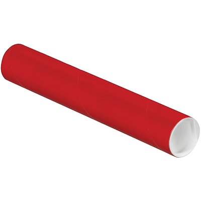 LUX® 2 x 12 Mailing Tubes; Holiday Red, 1000/PK (BP-P2012R-1M)