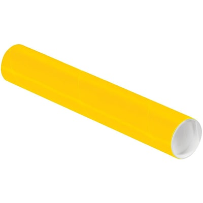 LUX® 2 x 12 Mailing Tubes; Sunflower Yellow, 50/PK (BP-P2012Y-50)