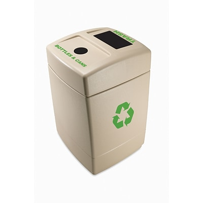 Commercial Zone Products® Green Zone Series Recycle55 Trash, Bottle and Can Recycling Container (745710)
