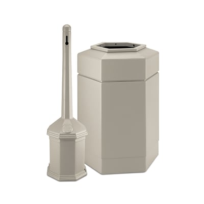 Commercial Zone Products® Smokers Outpost® Site Saver 30-Gallon Hex Combo Pack, Beige (715202)