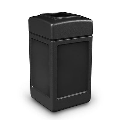 Commercial Zone Products® PolyTec Series 42gal Square Waste Container, Black (732101)
