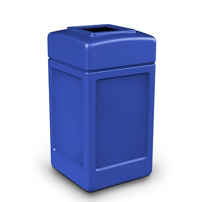 Commercial Zone Products® PolyTec Series 42gal Square Waste Container, Blue (732104)