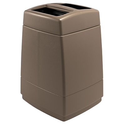 Commercial Zone Products® PolyTec Series 55gal Trash Container, Monterey Cliffs Brown (732842)